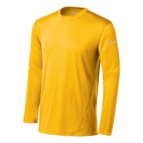 Mens ASICS Core Long Sleeve No Zip Technical Tops - Spectra XXL