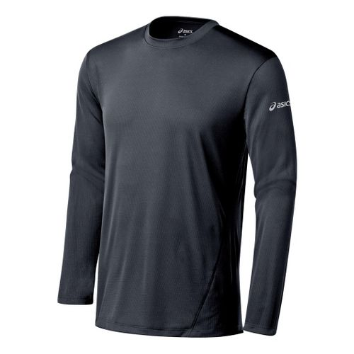 Mens ASICS Core Long Sleeve No Zip Technical Tops - Steel XL