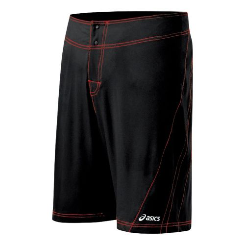 Mens ASICS Shoji Boardshort Unlined Shorts - Black/Red 32