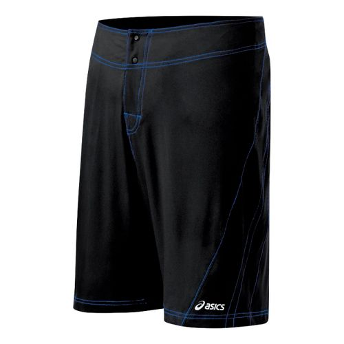 Mens ASICS Shoji Boardshort Unlined Shorts - Black/Royal 36