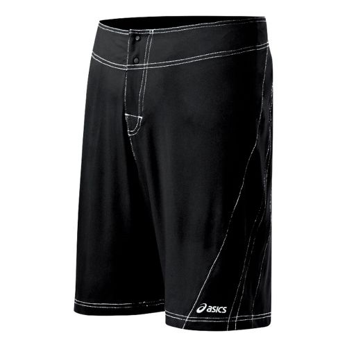 Mens ASICS Shoji Boardshort Unlined Shorts - Black/White 28