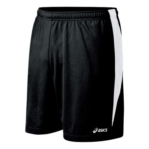 Mens ASICS Rally Unlined Shorts - Black/White S
