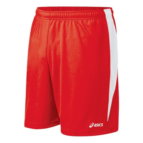 Mens ASICS Rally Unlined Shorts - Red/White M