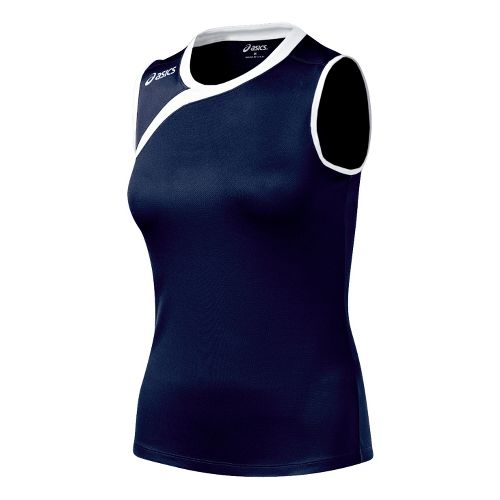 Kids ASICS Jr. Court Diva Sleeveless Technical Tops - Navy/White S