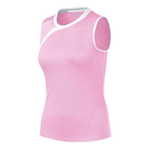 ASICS Girls Jr. Court Diva Sleeveless Technical Tops - Pink/White L