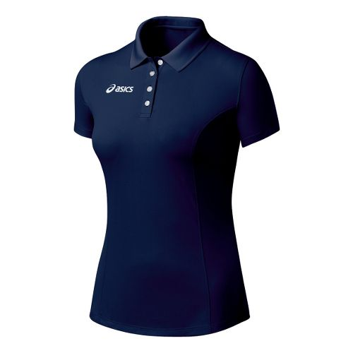 Womens ASICS Official Polo Short Sleeve Technical Tops - Navy XL