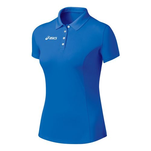 Womens ASICS Official Polo Short Sleeve Technical Tops - Royal XS