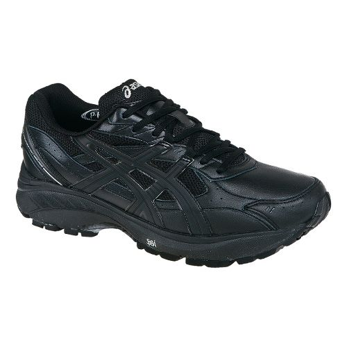 Mens ASICS GEL-Foundation Walker 2 Walking Shoe - Black/Black 8