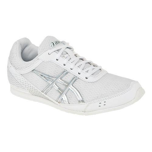 Kids ASICS Gel-Cheer Ultralyte GS Cheerleading Shoe - White/Silver 2.5