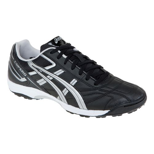 Mens ASICS Copero S Turf Track and Field Shoe - Black/Silver 6.5