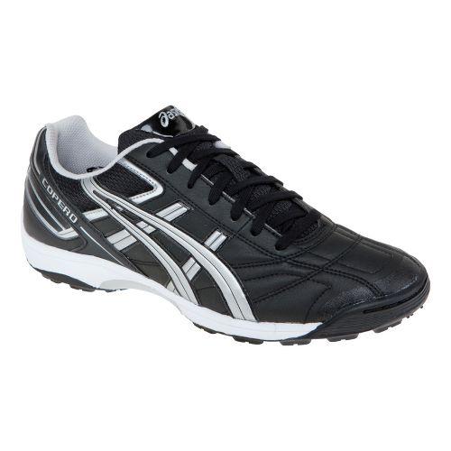 Mens ASICS Copero S Turf Track and Field Shoe - Black/Silver 8
