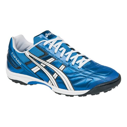 Mens ASICS Copero S Turf Track and Field Shoe - Electric Blue/White 4