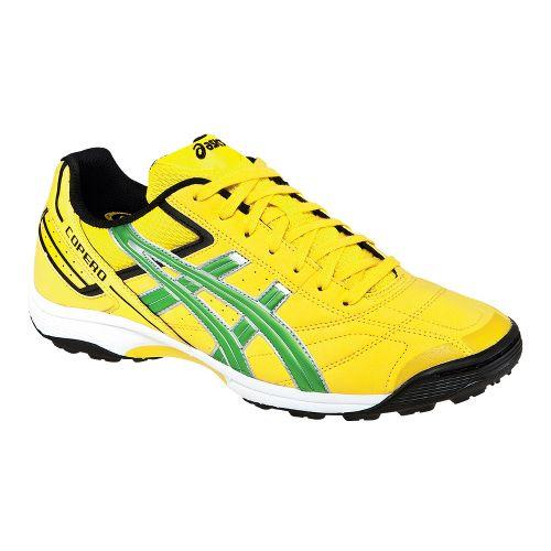 Mens ASICS Copero S Turf Track and Field Shoe - Lemon/Apple Green 8