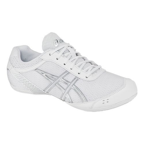 Womens ASICS GEL-Ultralyte Cheer Cheerleading Shoe - White/Silver 5.5