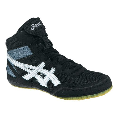 Kids ASICS GEL-Matflex 3 GS Wrestling Shoe - Black/White 1.5