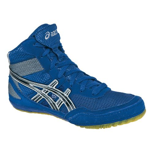 Kids ASICS GEL-Matflex 3 GS Wrestling Shoe - Royal/Black 11