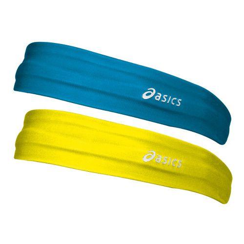 ASICS Hera 2 Pack Headband Headwear - Atomic Blue/Neon
