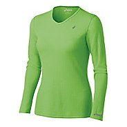 Womens ASICS Rib I Tech Long Sleeve Long Sleeve No Zip Technical Tops