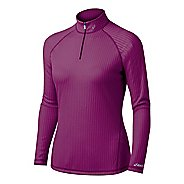 Womens ASICS Rib I Tech 1/2 Zip Long Sleeve 1/2 Zip Technical Tops