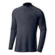 Mens ASICS Rib I Tech 1/2 Zip Long Sleeve 1/2 Zip Technical Tops