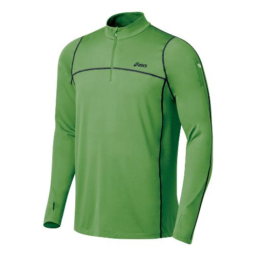 Mens ASICS Thermopolis LT 1/2 Zip Long Sleeve Technical Tops - Fairway/Iron L