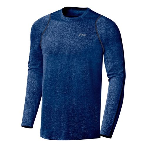 Mens ASICS Everyday Long Sleeve Long Sleeve No Zip Technical Tops - Estate S