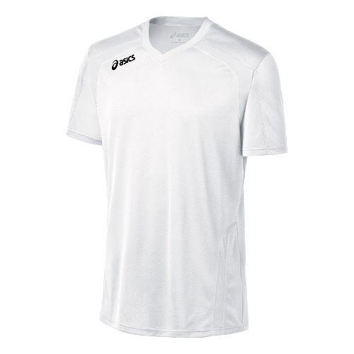 Mens ASICS Ace Jersey Short Sleeve Technical Tops - White/White L