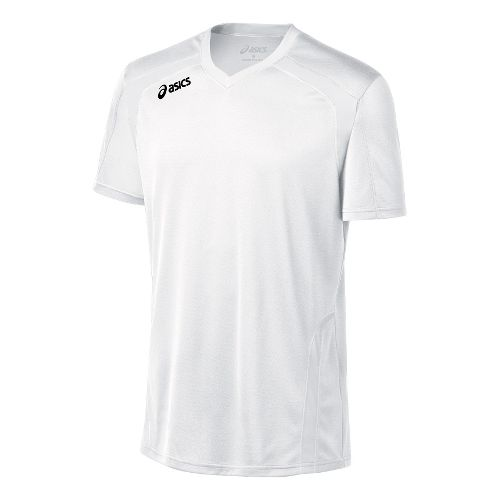 Mens ASICS Ace Jersey Short Sleeve Technical Tops - White/White XXL