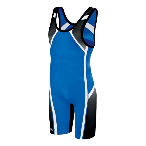 Mens ASICS Conquest Wrestling Singlet UniSuits - Royal XXL