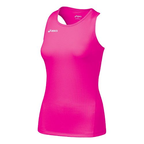 Womens ASICS Circuit-7 Singlet Long Sleeve No Zip Technical Tops - Pink Glo Pink Glo ...