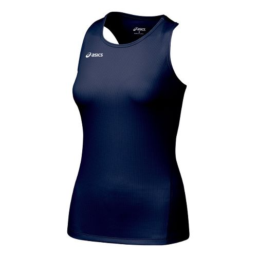 Womens ASICS Circuit-7 Singlet Long Sleeve No Zip Technical Tops - Navy L