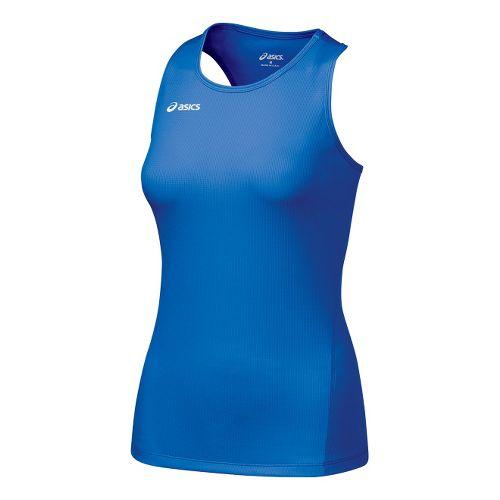 Womens ASICS Circuit-7 Singlet Long Sleeve No Zip Technical Tops - Royal L