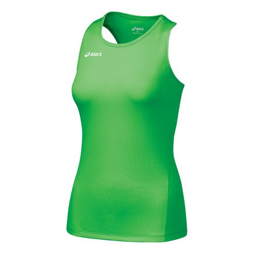 Womens ASICS Circuit-7 Singlet No Zip Technical Tops - Snap L