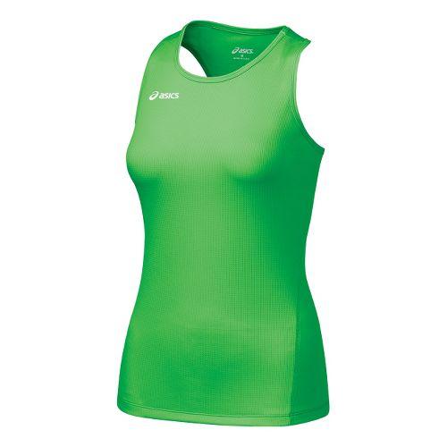 Womens ASICS Circuit-7 Singlet No Zip Technical Tops - Snap XL