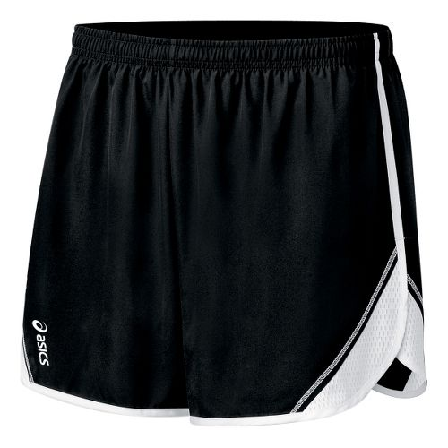 Womens ASICS Team Split Short - Black/White M