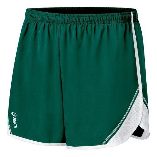 Womens ASICS Team Split Short - Forest/White S