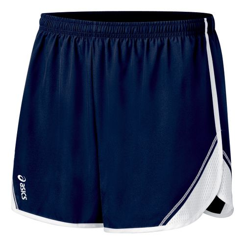 Womens ASICS Team Split Short - Navy/White M