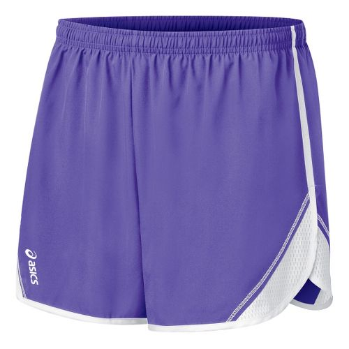 Womens ASICS Team Split Short - Purple/White L