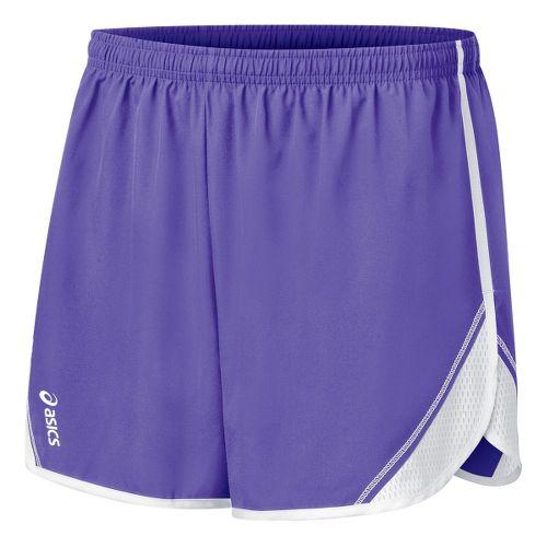 Womens ASICS Team Split Short - Purple/White XS