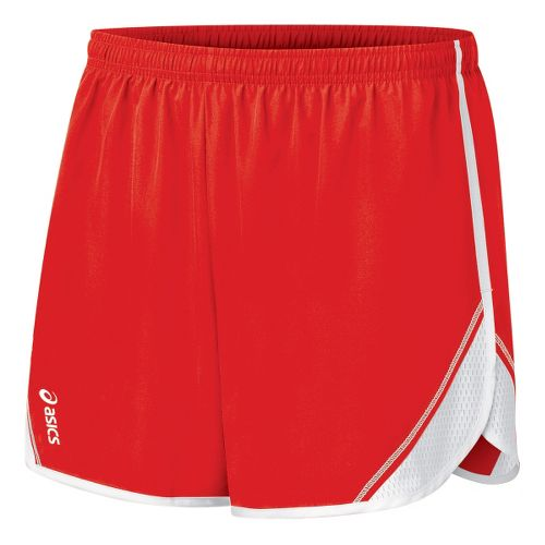 Womens ASICS Team Split Short - Red/White M