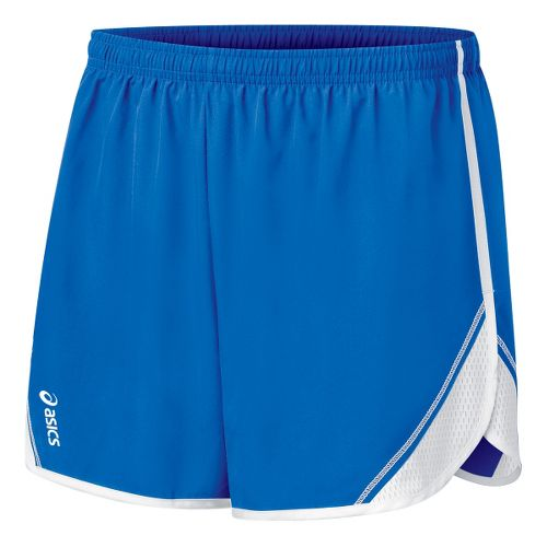 Womens ASICS Team Split Short - Royal/White L