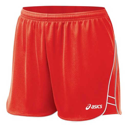 Womens ASICS Training Unlined Shorts - Red XL