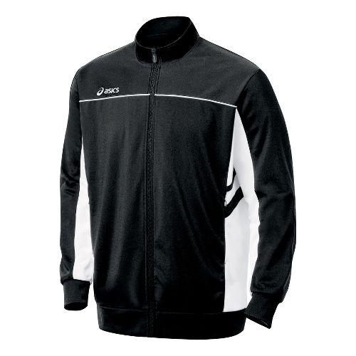 Mens ASICS Cabrillo Running Jackets - Black/White L