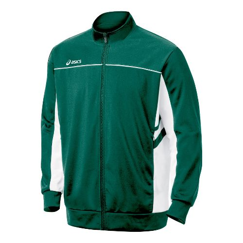Mens ASICS Cabrillo Running Jackets - Forest/White S