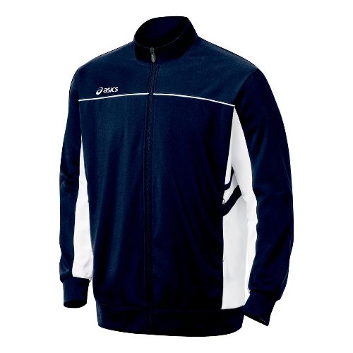 Mens ASICS Cabrillo Running Jackets - Navy/White XS