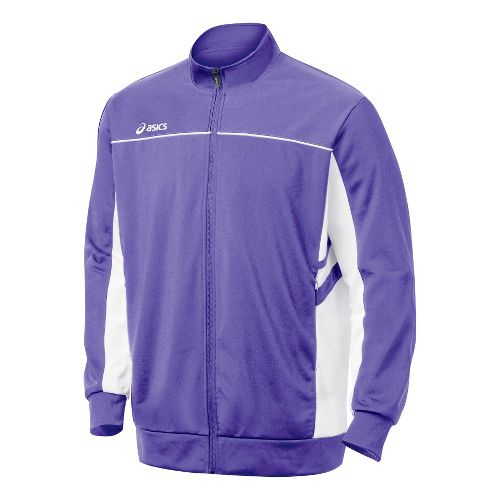 Mens ASICS Cabrillo Running Jackets - Purple/White M