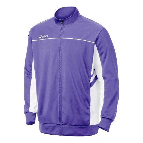 Mens ASICS Cabrillo Running Jackets - Purple/White XXL