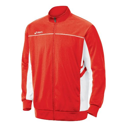 Mens ASICS Cabrillo Running Jackets - Red/White M