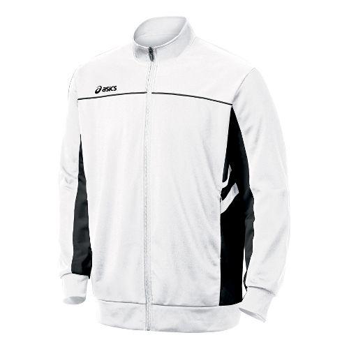 Mens ASICS Cabrillo Running Jackets - White/Black XXL