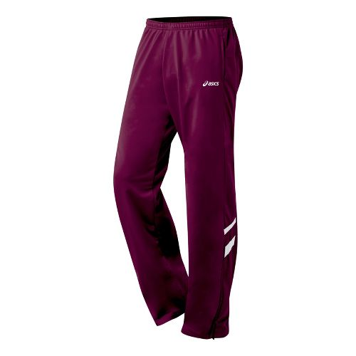 Mens ASICS Cabrillo Pant Full Length - Maroon/White M